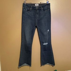 PAIGE High Rise Bell Canyon Flare Jeans Size 14